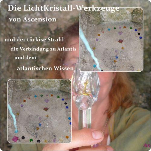 LichtKristall-Werkzeuge -türkise Strahl-Atlantis