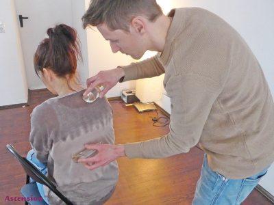 Revitalisierene LichtEnergie-Massage Rücken
