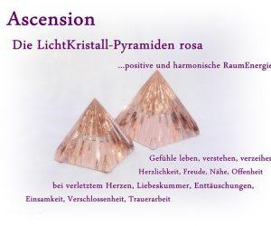 Ascension LichtKristall-Pyraminden rosa