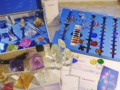 verschiedene LichtKristall-Werkzeuge von Ascension, Unterlagen, Aufbewahrung